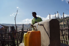 Getting water in africa Royalty Free Stock Photo