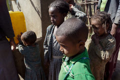 Getting water in africa Stock Images