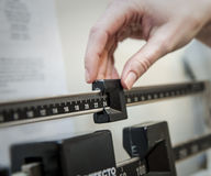 Getting Weighed In Royalty Free Stock Photos