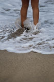 Getting your feet wet Royalty Free Stock Photography