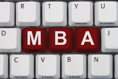 Getting your MBA online Stock Photos