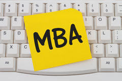 Getting your MBA online Royalty Free Stock Photography