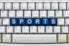 Getting your sports information online Royalty Free Stock Photos