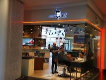 GETTO «S mężczyźni - fryzjera męskiego sklepu plac Rumunia zdjęcia royalty free