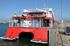 Getto ad alta velocità di Halunder del catamarano Immagine Stock