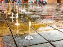 Getto della fontana Fotografia Stock Libera da Diritti