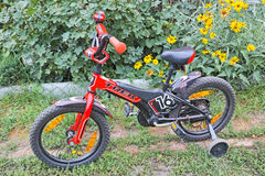 Getto 16 di viaggio della bicicletta dei bambini Fotografie Stock Libere da Diritti