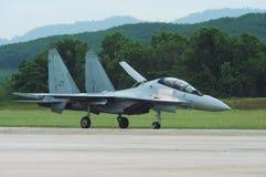 Getto malese reale dell'aeronautica, Sukhoi Su-30MKM Fotografia Stock Libera da Diritti