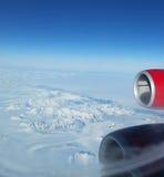 Getto sopra la Groenlandia Fotografia Stock Libera da Diritti