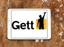 Getto taxi zastosowania logo Fotografia Stock
