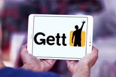 Getto taxi zastosowania logo Zdjęcie Stock