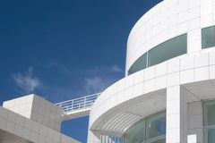 Getty Center. Fantastic modern architecture of the Getty Center, Los Angeles, California Stock Photo