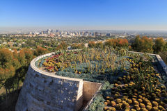 The getty center. FEB 11, Los Angeles: The famous Getty Center on FEB 11, 2015 at Los Angeles Stock Photos