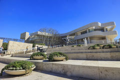 The getty center. FEB 11, Los Angeles: The famous Getty Center on FEB 11, 2015 at Los Angeles Royalty Free Stock Images