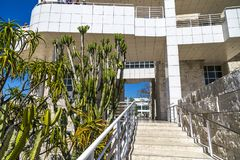 Getty Center Museum. Architecture at the Getty Museum Royalty Free Stock Photography