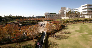 Getty Center View. Wide angle view from atop the Getty Center stock images