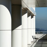 Getty museum. On a sunny day, two empty chairs Royalty Free Stock Images