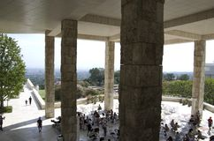Getty Museum exterior design. Getty Museum has very unique design inside out. It has marbles every where to connect you with nature Stock Photos