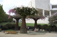 Getty Museum Garden Los Angeles Royalty Free Stock Photos