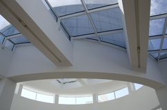 Getty Museum lobby interiors ceiling natural lighting Royalty Free Stock Photo