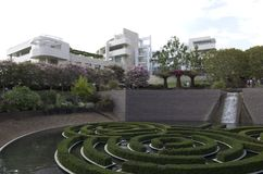 Getty Museum exterior garden Royalty Free Stock Images