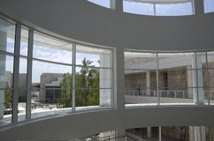 Getty Museum lobby interiors ceiling natural lighting Royalty Free Stock Images