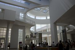 Getty Museum lobby interiors ceiling natural lighting Royalty Free Stock Image