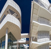 Getty museum. Main building: panoramic view Royalty Free Stock Photos