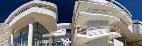 Getty museum. Main building: panoramic view Royalty Free Stock Images