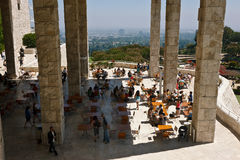 Getty Museum Patio Stock Photos