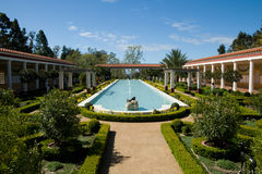Getty Villa. The Getty Villa is a small museum in Palissades, CA that specializes in Greco-Roman art Stock Image