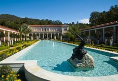 Getty Villa. The Getty Villa is a small museum in Palissades, CA that specializes in Greco-Roman art Stock Images