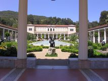 Getty Villa backyard. A view of a backyard of Getty Villa Stock Photo