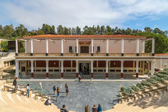 Getty Villa Museum. Entrance to the Getty Villa Museum depicting a Roman maritime villa on the Bay of Naples Royalty Free Stock Images