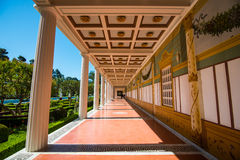 Getty Villa. The Getty Villa in the Pacific Palisades neighborhood of Los Angeles, California, USA, is one of two locations of the J. Paul Getty Museum Royalty Free Stock Photos