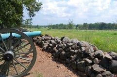 Gettysburg大炮 库存图片