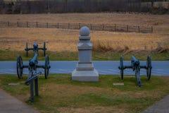 GETTYSBURG, ΗΠΑ - 18 ΑΠΡΙΛΊΟΥ, 2018: Υπαίθρια άποψη Napoleon, πυροβόλο 12 λιβρών που βρίσκεται σε ένα νεκροταφείο σε Gettysburg ε Στοκ φωτογραφία με δικαίωμα ελεύθερης χρήσης