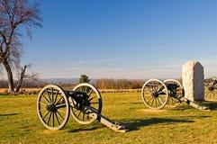 Gettysburg 2 armaty obrazy royalty free
