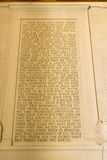 Gettysburg Address. Abraham Lincoln's Gettysburg Address, 19 November 1863, inscribed inside the south wall of his Monument. Washington, DC Royalty Free Stock Images