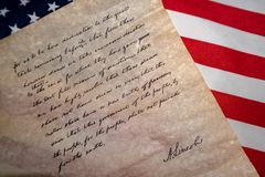 Gettysburg adressanförande vid U S Abraham Lincoln president Royaltyfri Foto