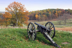 Gettysburg in Autumn. A cannon at the Gettysburg National Military Park in Pennsylvania Stock Photography