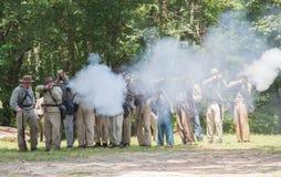 Gettysburg Battle Reenactment Royalty Free Stock Photography