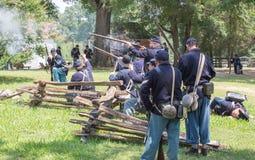 Gettysburg Battle Reenactment Royalty Free Stock Photo