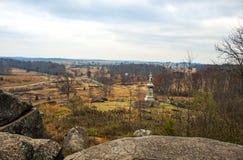Gettysburg Battlfield в Пенсильвании, Соединенных Штатах Стоковое Фото