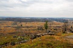 Gettysburg Battlfield в Пенсильвании, Соединенных Штатах Стоковое фото RF