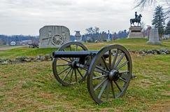 Gettysburg Battlfield в Пенсильвании, Соединенных Штатах Стоковые Изображения RF