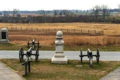 Gettysburg Battlfield в Пенсильвании, Соединенных Штатах Стоковое Изображение RF