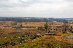 Gettysburg Battlfield en Pennsylvania, Estados Unidos foto de archivo libre de regalías