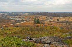 Gettysburg Battlfield i Pennsylvania, Förenta staterna Arkivfoto