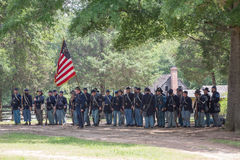 Gettysburg bitwy Reenactment obrazy royalty free